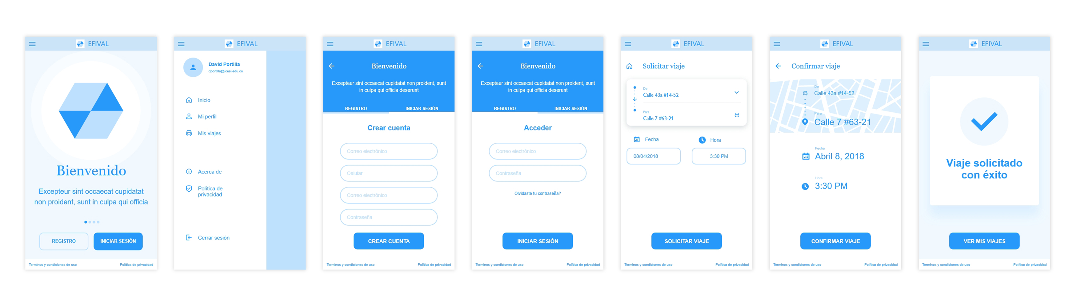 efival-wireframe-lo-fi-app